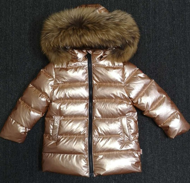 d69667438 Custom Made Gold Silver Winter Children Down Coat Boys Girls Warm ...