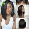 7a Short Human Hair Bob Wigs Brazilian Full Lace Bob Wigs For Black Women Glueless Lace Front Human Hair Bob Wigs Bleached Knots
