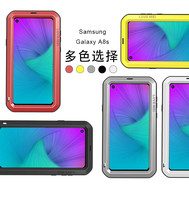 LOVE MEI Waterproof Shockproof Metal 360 Full Body Protective Armor Case For Samsung Galaxy S10 Water Resistant Cover With Glass
