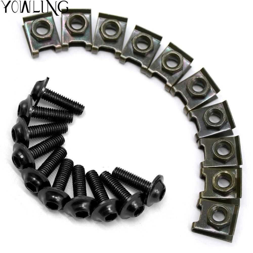 Universal 6mm CNC motorcycle Accessories body work fairing bolts screws for suzuki hayabusa gsx1300r gsx 600 gsxr 750 csr1000
