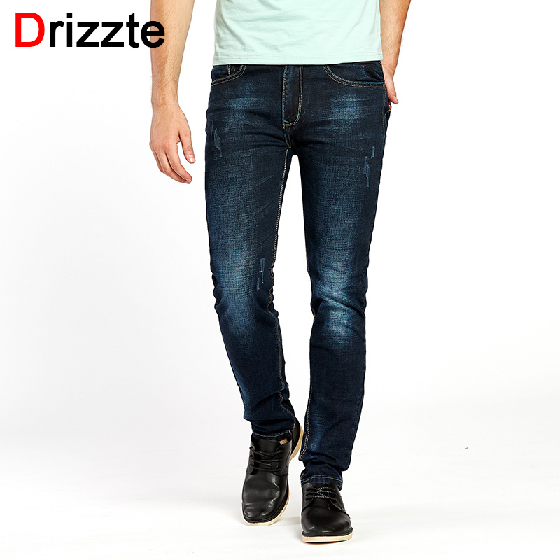 Drizzte Jeans Men Black Blue Stretch Denim Brand designer Mens Jean Size 30 32 34 35 36 38 40 42 Autumn Winter Pants Trousers drizzte men s jeans classic stretch blue denim business dress straight slim jeans size 34 35 36 38 pants trousers jean for men