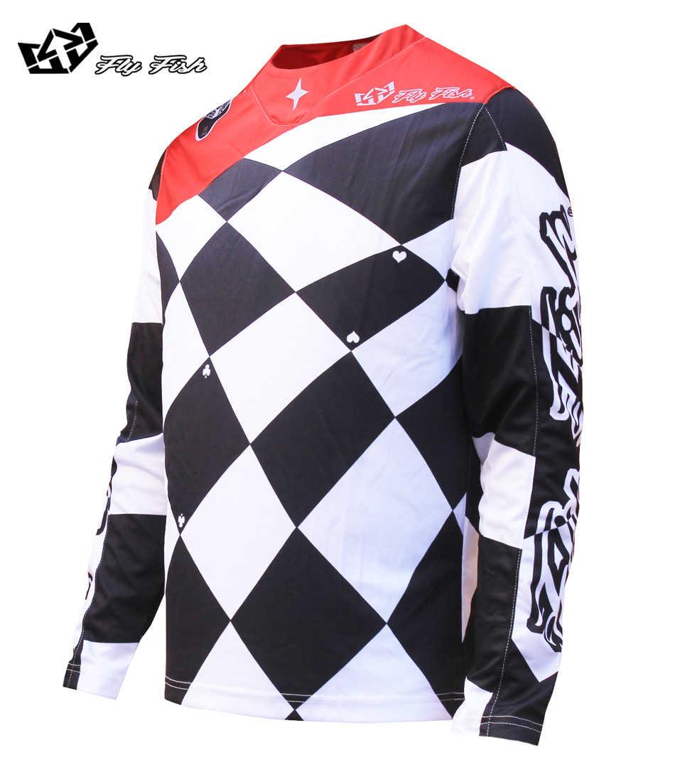 2018 FLY FISH RACING Мужская SE Joker Мужская MX вездеходное трико белый/черный футболка для горного велоспорта MX MTB футболка Джерси велосипед Велоспорт