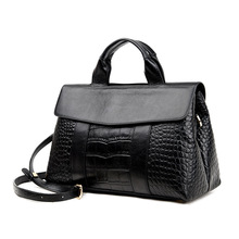High Quality PU Leather Ladies Messenger Bags Fashion Alligator Women Handbags Serpentine Top-Handle Bag Women Crossbody Bags