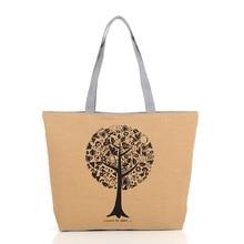 Hot Sale! Canvas Handbag Women Candy Color Fashion Tree Printing Large Capacity Casual Tote Women Messenger Bags Bolsas Feminina