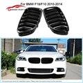 Um Par de Frente Estilo Do Carro Gloss Black Grelhas para BMW F10 F18 2010-2014