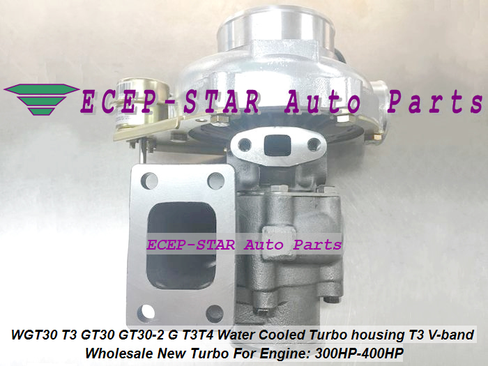 WGT30 T3 GT30 GT30-2 G T3T4 Turbo Turbocharger Turbine housing T3 V-band Water Cooled 300HP-400HP (4)