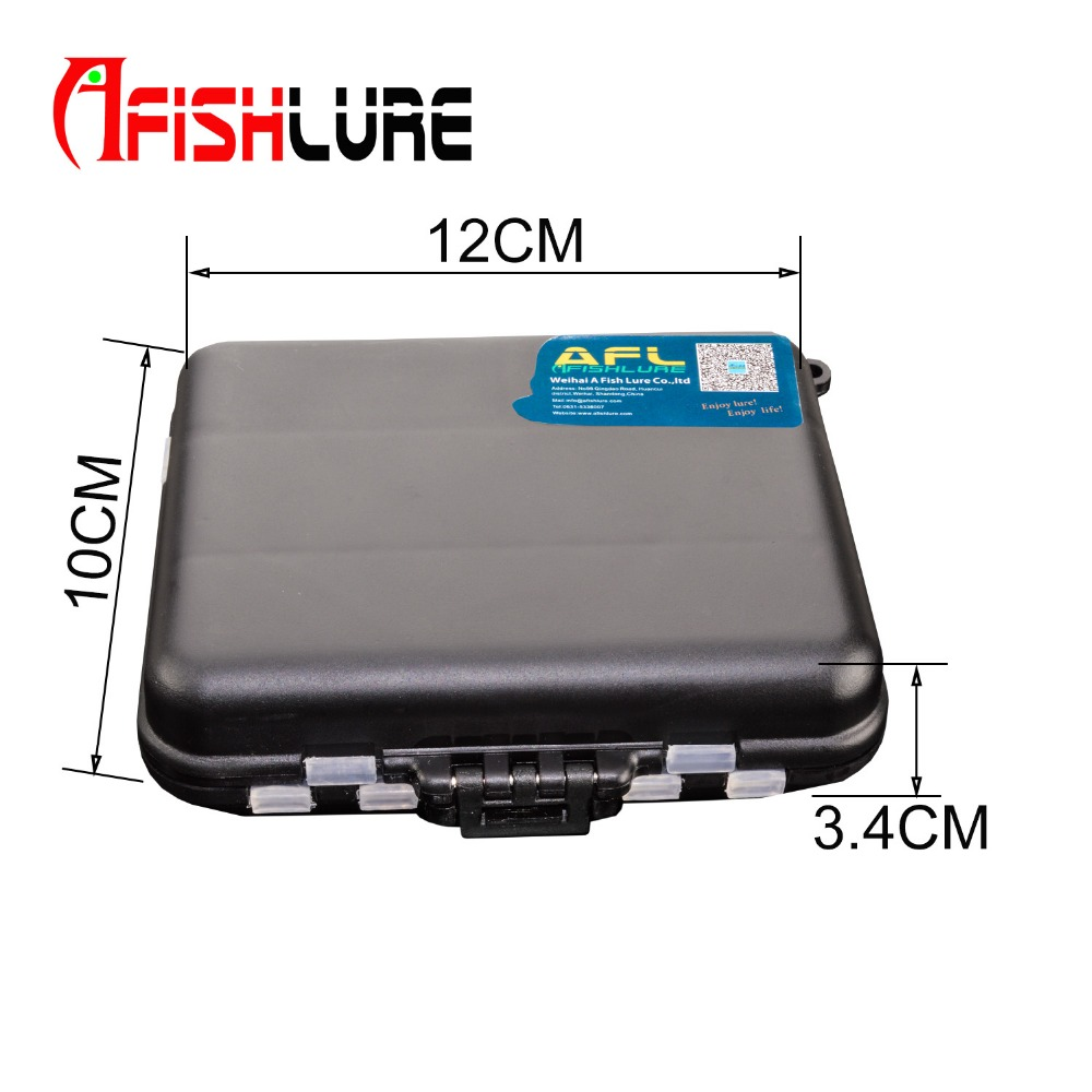Fishing Box Accessories Waterproof Eco-Friendly Fishing Lure Bait Tackle Waterproof Storage Box Case With 15 Compartments Black