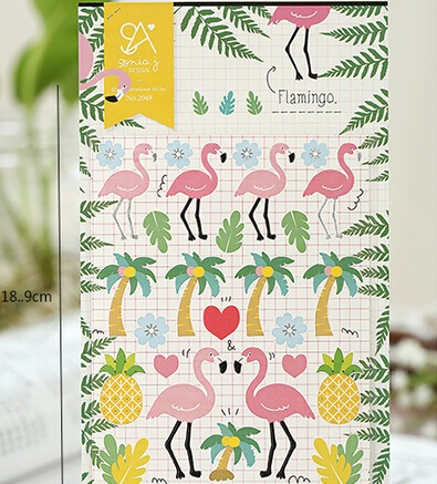 new arrival fashion cute Funny . Cute Pink Flamingo series deco Paper sticker.Decoration label. Multifunction student tool schoo