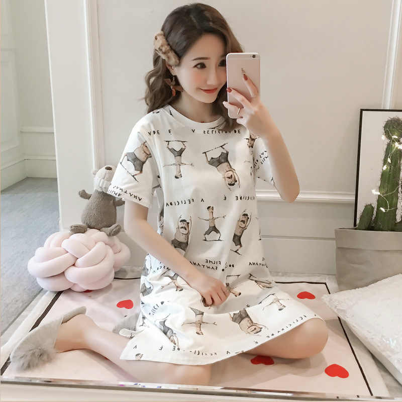 78ae90f3e073b Summer Cotton Maternity Nursing Sleepwear Loose Breastfeeding T-Shirt  Nightdress for Pregnant Women Pregnancy Feeding