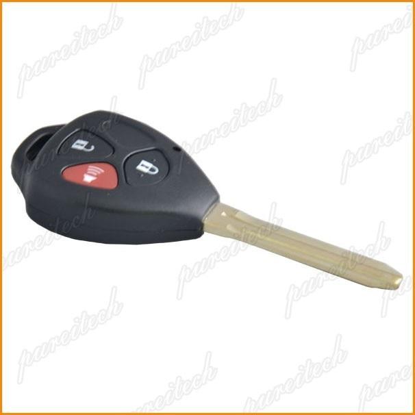 PREISEI 40Pieces lot Plastic Black Car Key Remote Case For Toyota Camry 3 Button With Logo
