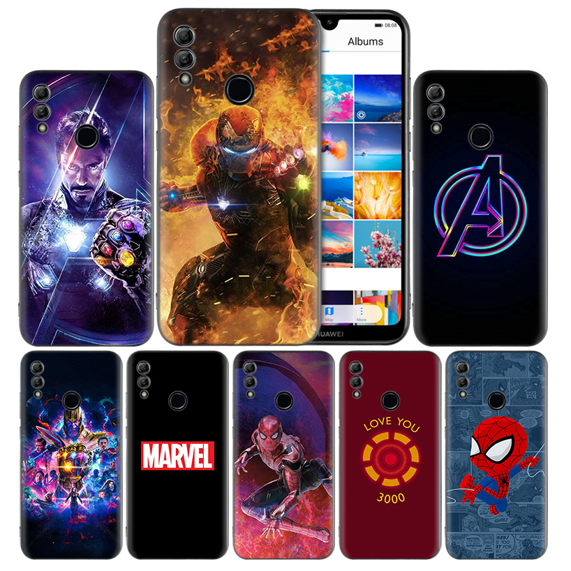 Avengers Endgame <font><b>Marvel</b></font> Iron Silicone <font><b>Case</b></font> Cover for <font><b>Huawei</b></font> Honor 8X 8C 8A 8S 10 10i Lite Play V20 Y9 <font><b>Y7</b></font> Y6 Y5 Prime 2018 <font><b>2019</b></font> image