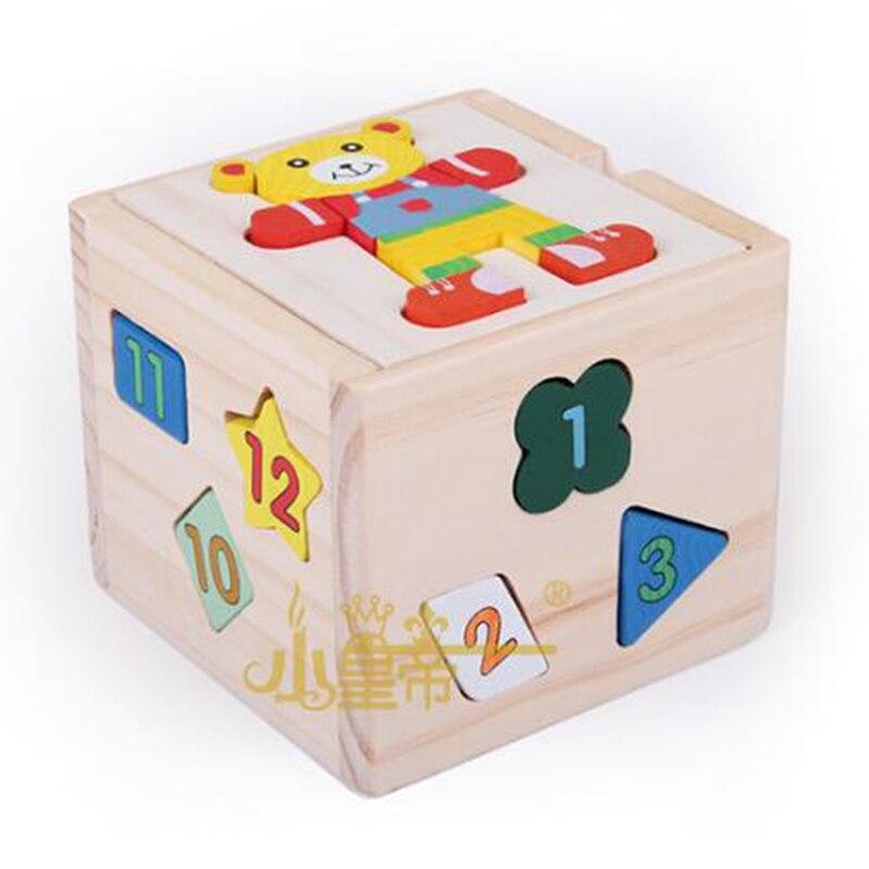1 Set Creative Baby Intelligentie Doos Speelgoed Voor Kinderen Educatief Kids Fun Game Digitale Geometrie Beer Bouwstenen Doos