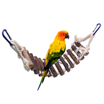 1 pcs Bird Cage Bird Toys Accessories Colorful Solid Wood Bird Chew Toy Parrots Toys Accessory Standing Chews Birds Nest 2