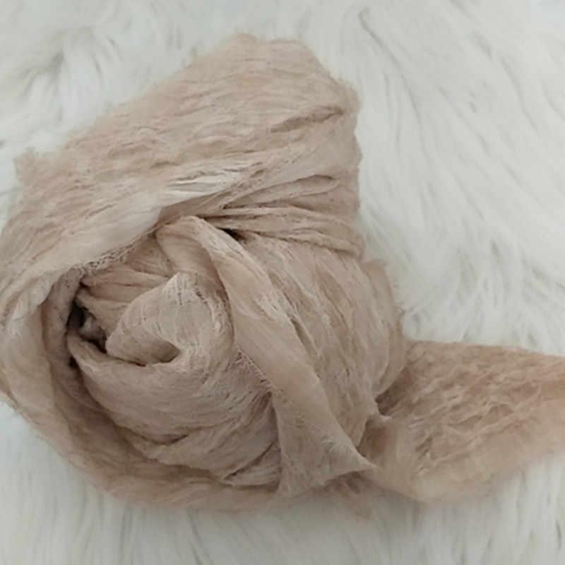 90*220CM Knit Stretch Newborn Photography Wraps Swaddle Newborn Photo Props Baby Photography Blankets Gauze Wraps for Photoshoot