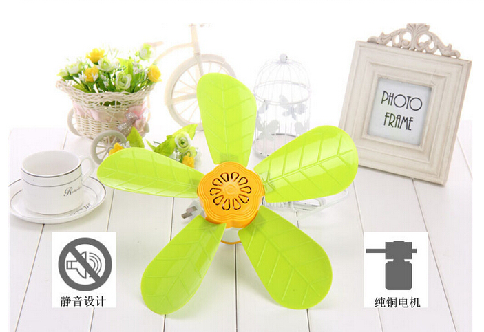 10W one gear green leaf lovely children mini student ceiling fan 320mm ...