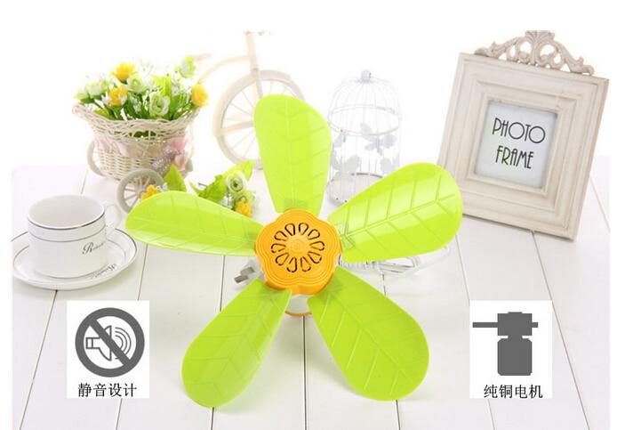 10W one gear green leaf lovely children mini student ceiling fan 320mm ...