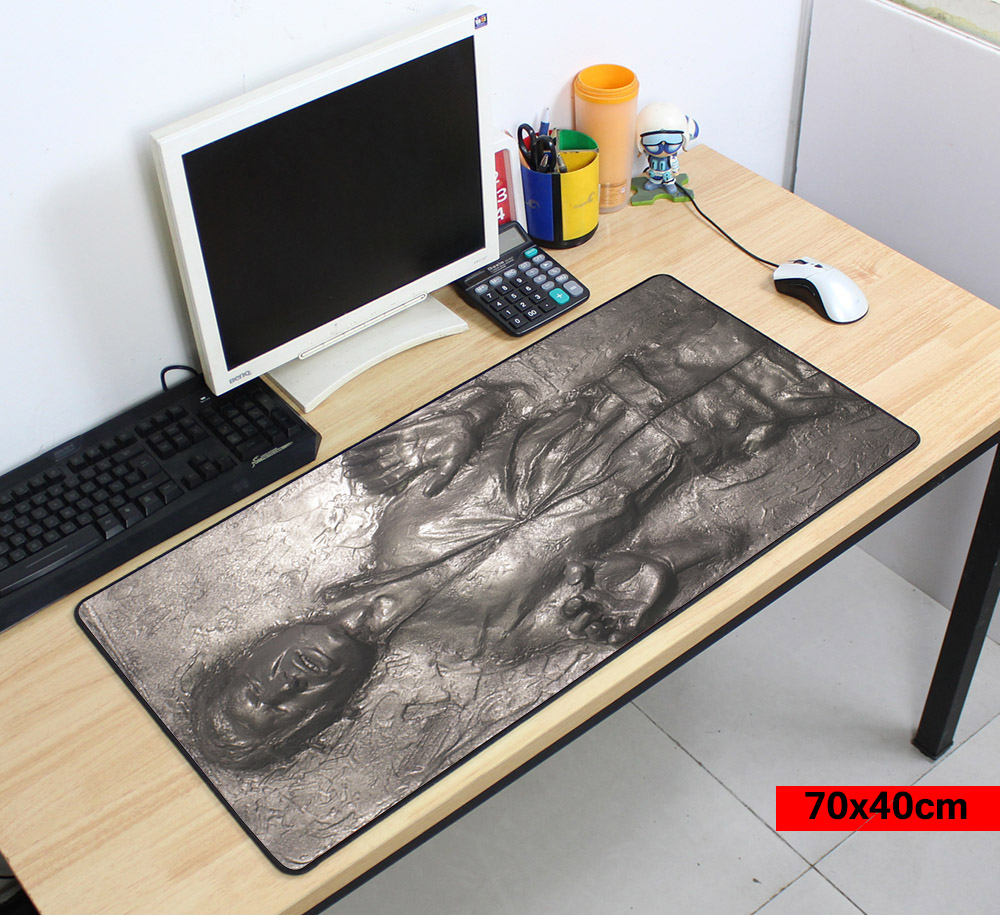 Han Solo in Carbonite Laptop Gaming Mouse Pads Locking Edge Star War Mouse pad Mat for pc Mouse Mice Pad for Game Player image