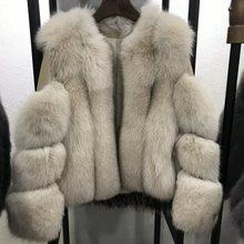 Oftbuy 2020 real casaco de pele de raposa casaco de inverno feminino natural pele de raposa grosso quente streetwear marca luxo outerwear casual moda