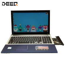 Free Shipment 15 inch gaming laptop notebook computer Wtih DVD 8GB DDR3 1TB HDD intel Pentium