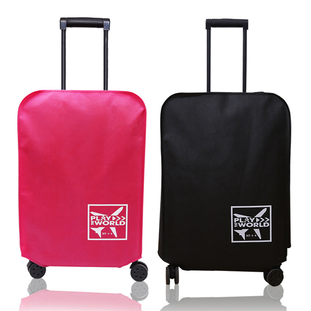Protective Anti-scratch Outdoor Non-woven Fabric Waterproof Thickened Luggage Cover Travel Dust-Proof Suitcase Accessories