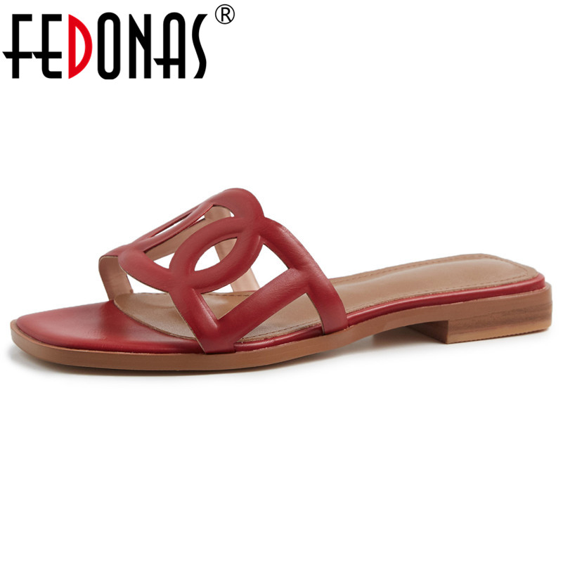 FEDONAS Women Pumps Brand Design Quality Cow Leather Square Heeled Party Casual Shoes Woman Shallow Concise Retro Basic SandalsFEDONAS Women Pumps Brand Design Quality Cow Leather Square Heeled Party Casual Shoes Woman Shallow Concise Retro Basic Sandals