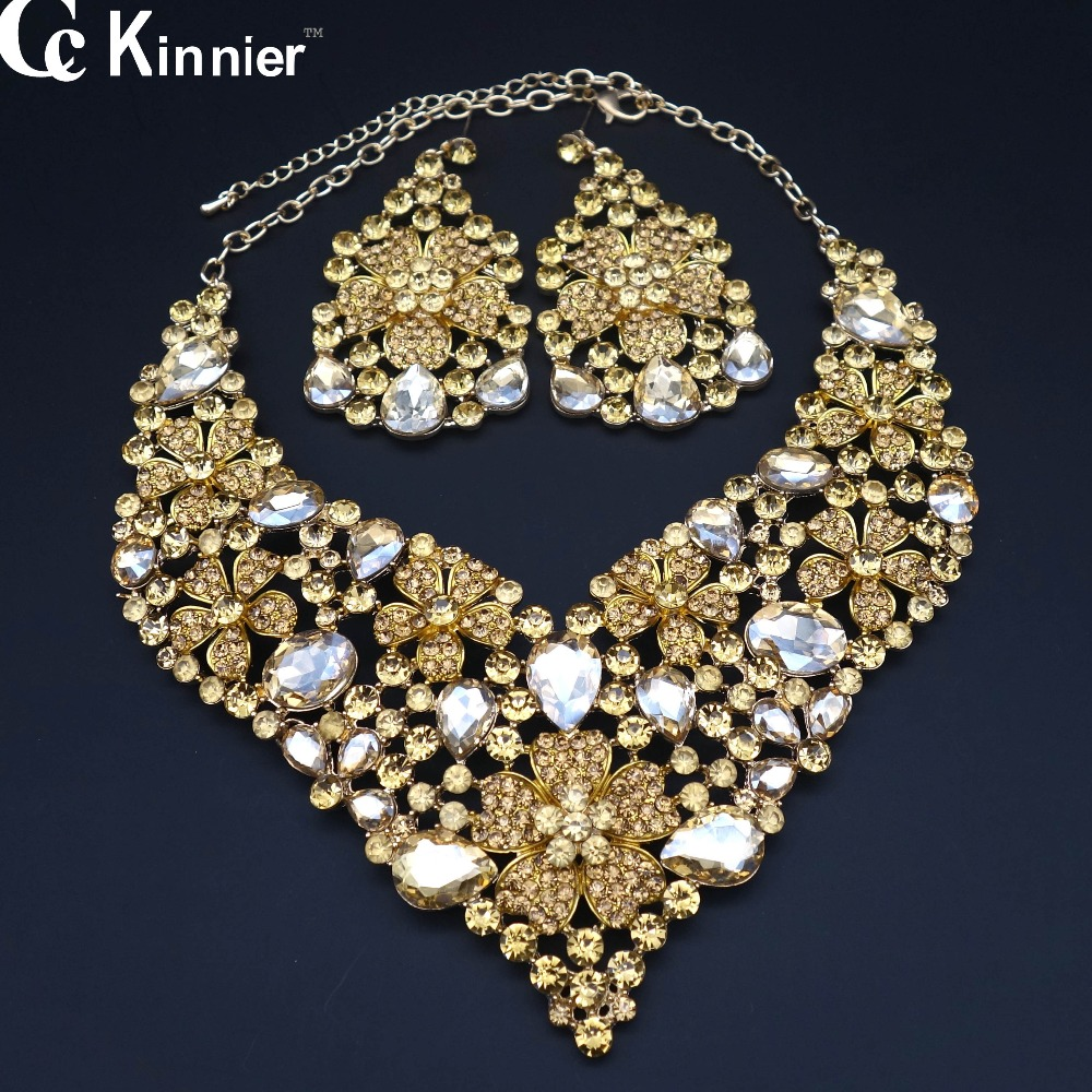 Dubai Goldcolor African Beads Pearl Jewelry Beautiful Bridal Jewelry Set  Wedding Prom Party Necklace