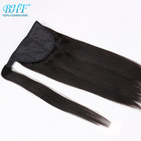 Ponytail Human Hair Remy Straight European Ponytail Hairstyles 60g Human Hair Clip In Extensions By BHF