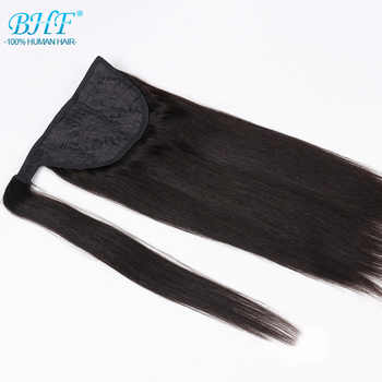 Ponytail Human Hair Remy Straight European Ponytail Hairstyles 60g 100% Natural Hair Clip in Extensions by BHF - DISCOUNT ITEM  50% OFF All Category