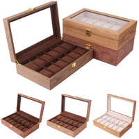 Luxury 12 Grids Solid Wood Watch Box Wood Clock Box Watch Case Time Box for Watch Holding