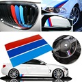 (5) Car Styling Sticker M Colored Racing Stripes Stickers for BMW Decoration Car Styling Sticker Grille Fender Racing Decals