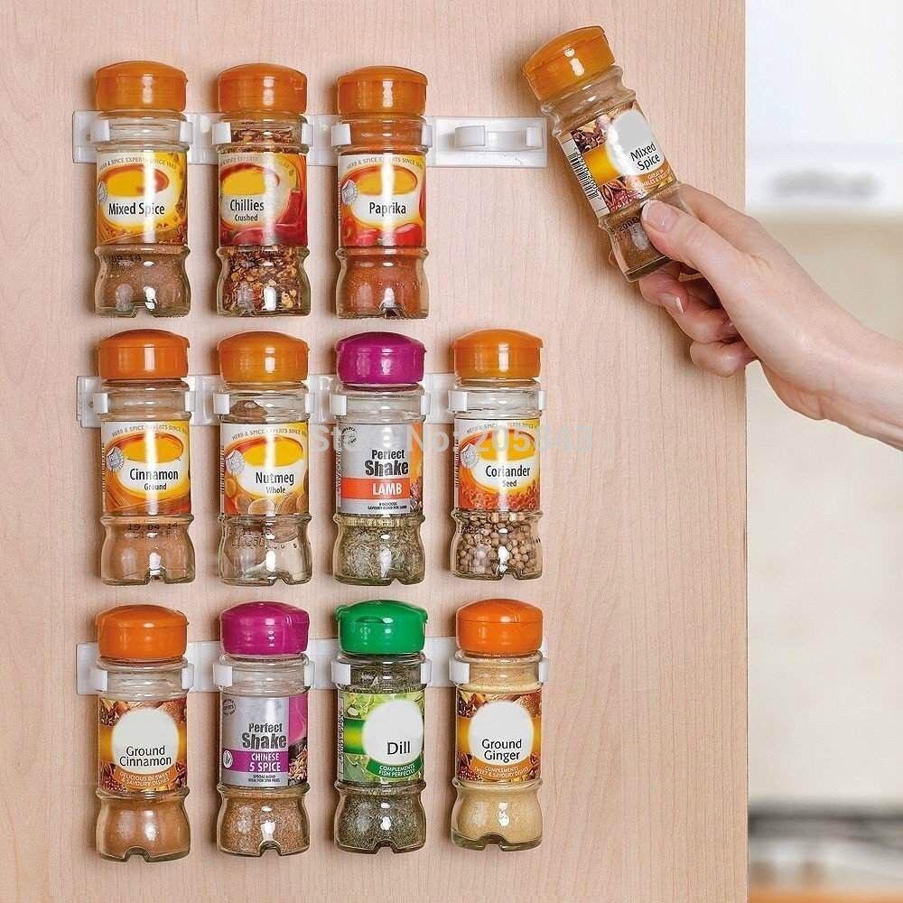 Spice clips Organizer Rack Spice Rack Storage Wall Rack 12 Cabinet Door Spice Clips Spice Rack Kitchen 3PCS/SET the spice tree