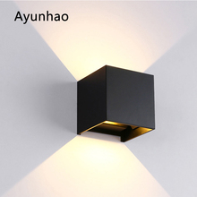 12W LED Wall Light Outdoor Waterproof IP65 Porch Garden Wall Lamp Sconce Balcony Terrace Decoration Lighting Lamp AC85-265V outdoor lighting waterproof glass wall lamp vintage indoor villa porch garden courtyard decora light ip65 led outdoor wall light