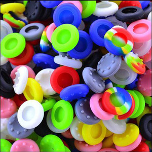 Image 1 - 10pcs/lot Colorful Silicone Thumb Stick Joystick Grip For Sony PlayStation 3 PS3 PS4 Controller Cap Cover For Xbox360 XBOX ONE