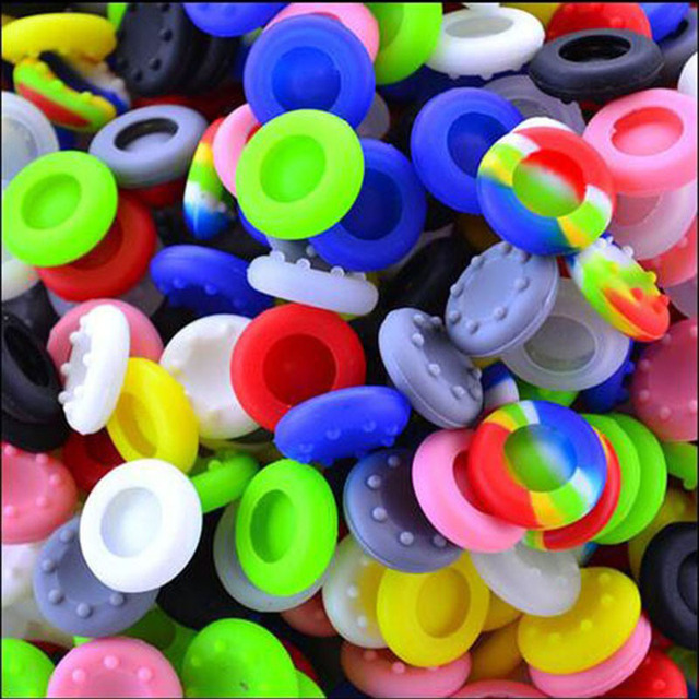 10pcs/lot Colorful Silicone Thumb Stick Joystick Grip For Sony PlayStation 3 PS3 PS4 Controller Cap Cover For Xbox360 XBOX ONE