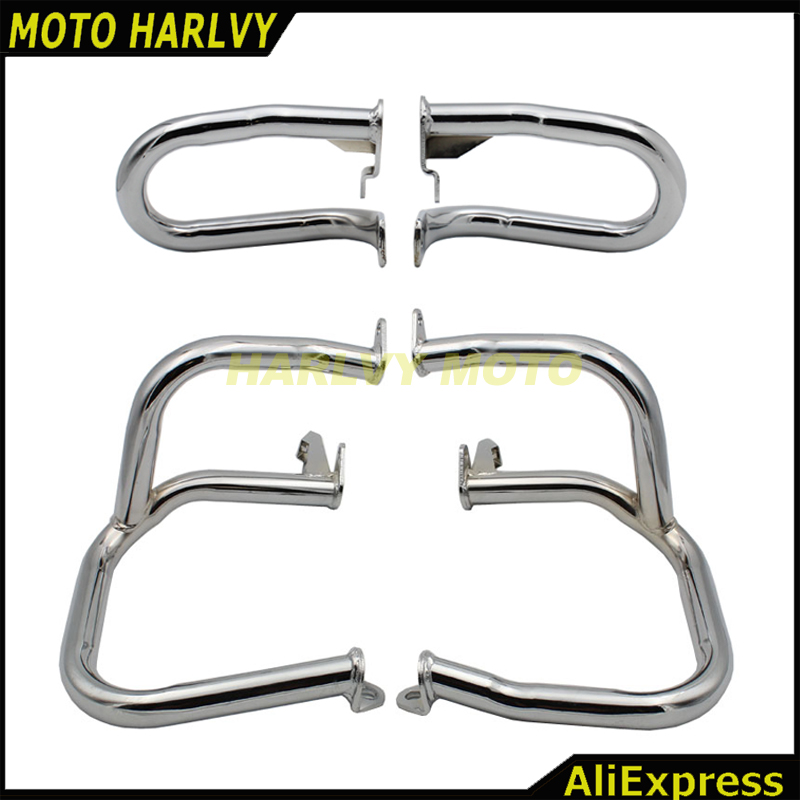 Front Rear Iron Engine Case Guards Bars For Honda GOLDWING GL1800 2001 2014