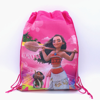 12pcs 36 27cm Ocean Moana Non Woven Fabric Drawstring Backpack Gift Bag Loot Bag Birthday Party
