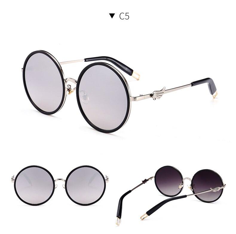 05ddf3706077b Comprar 2018 nova personalidade óculos de sol das mulheres rodada moda  óculos de sol da moda Italiana KFM101 117 marca mulheres designer de óculos  cor de ...