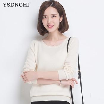 Ysdnchi мода 2017 новые женские свитера тонкий вязаный кашемировый