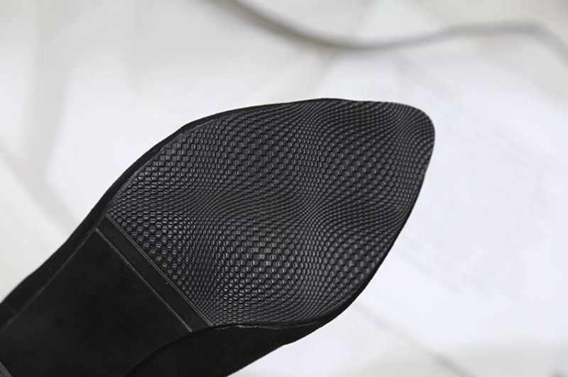 COOTELILI Moda 8.5 cm Yüksek Topuklu yarım çizmeler Kadınlar Için Siyah Sonbahar Kış Ayakkabı Kadın Fermuar Pompaları Bayan Botları 35- 39