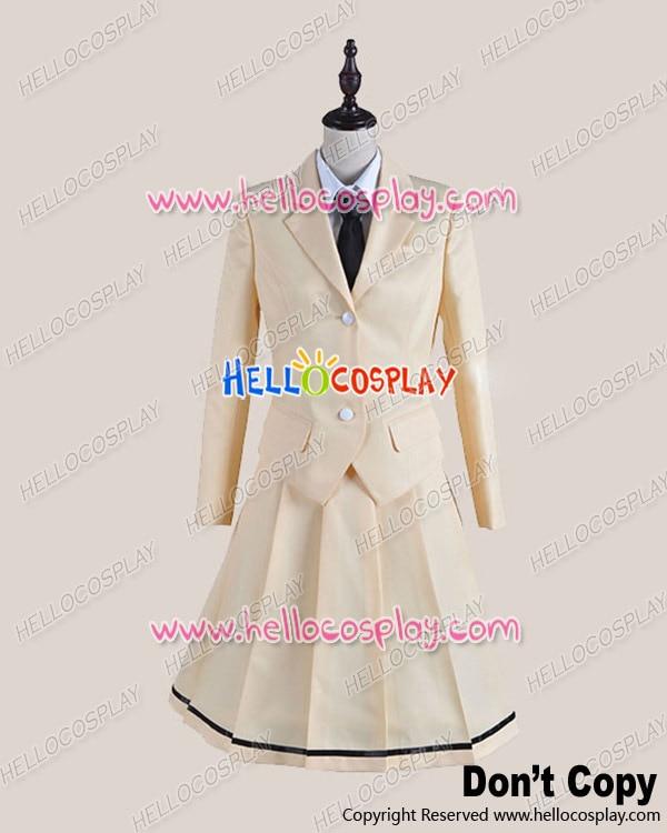 Japanese Anime Outfit WataMote Tomoko Kuroki School Girl Uniform Cosplay  Costume Black Tie H008