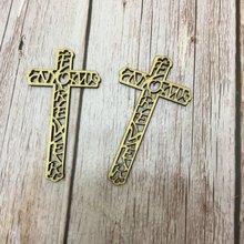 Набор из 20 деревянных крестов лазерной резки для рукоделия