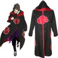 Ücretsiz Kargo Naruto Uchiha Sasuke Kartal Kadro Cosplay Cloak cosplay kostümler Kapşonlu Cloak anime cosplay cadılar bayramı kostüm