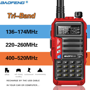 Image 1 - ثلاثي الفرقة راديو BaoFeng UV S9 8W عالية الطاقة 136 174 Mhz/220 260 Mhz/ 400 520Mhz اسلكية تخاطب الهواة يده هام اتجاهين الراديو