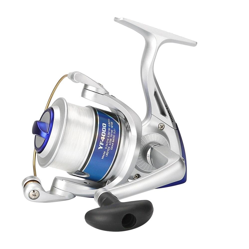 Hohe Qualität Spinning Angeln Reel Mit Angelschnur 12BB Fly Rad Für Frische/Salz Wasser Meer Angeln Spinning Reel karpfen Angeln