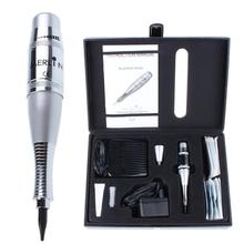 купить Professional Complete USA biotouch Merlin Tattoo machine Kit Permanent Makeup machine Cosmetic with Foot Pedal Tattoo Gun Needle дешево