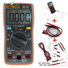Dutoofree AN8002 Digital Multimeter 6000 Counts Backlight AC/DC Ammeter Voltmeter Ohm Portable Meter Multimetro Digitale