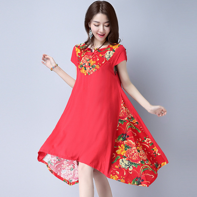9d10a46d683 Plus Size Lady Cloth Summer Red Maternity Retro Buckle Dress Maternity  Clothes for Pregnant Women Pregnancy Dress Vestido YFQ050