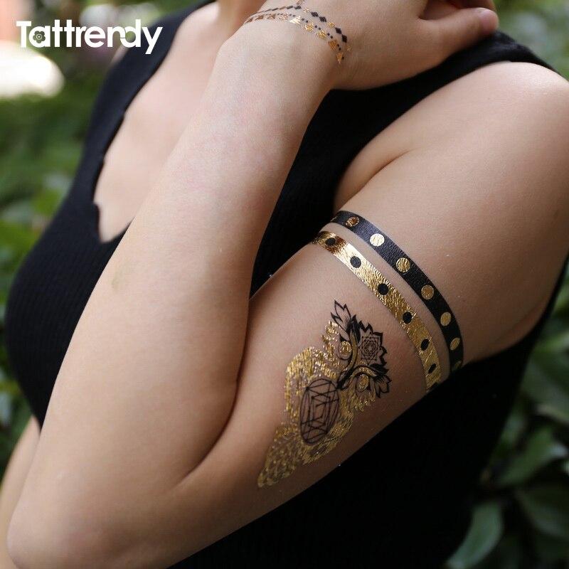 Eule Ring Jewel Temporäre Tattoo Gefälschte Auf Die Körper Hand