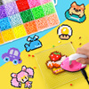 24 Perler Beads Kit 5mm  2 6mm Kit Hama Beads Creative 3D Puzzle Full Set with all accessories Ironing Handmade Beads Toy Gift flash sale