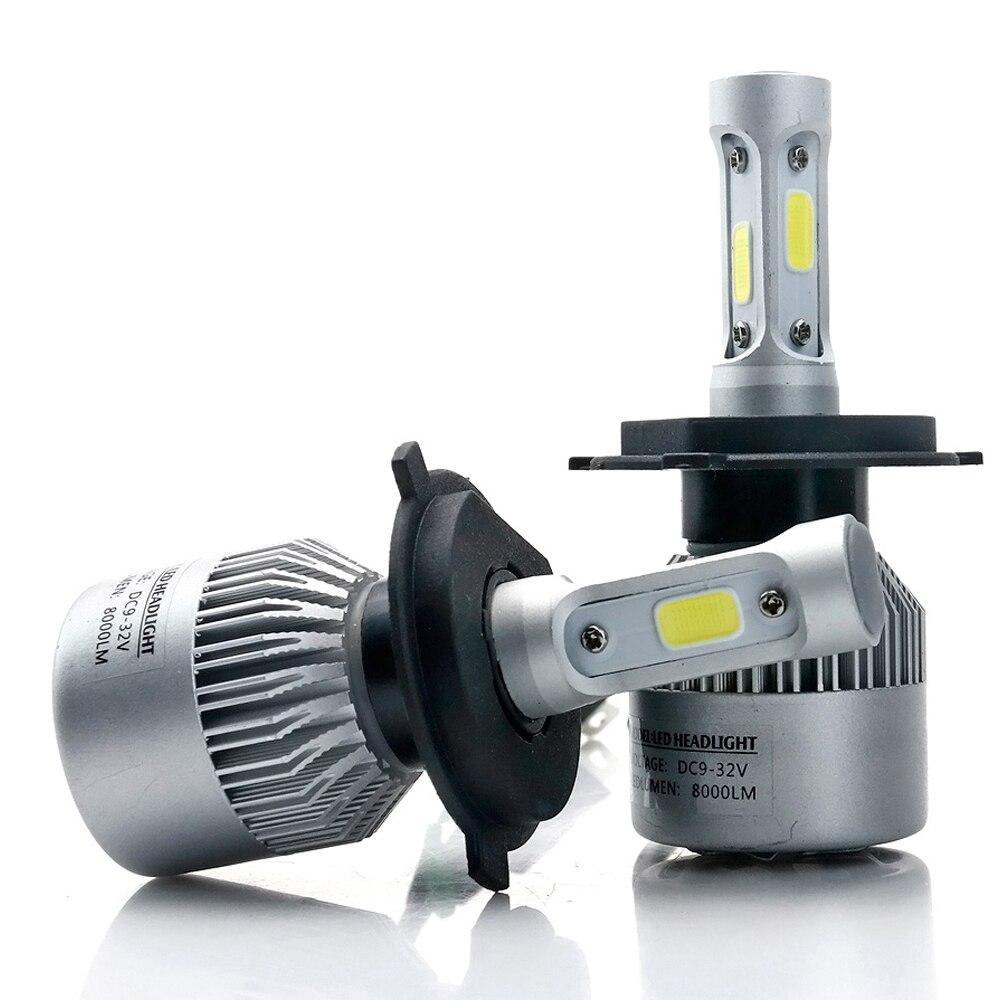 Auto Luce S2 H4 H7 H1 COB LED Del Faro Lampadine H11 H13 12 v 9005 9006 H3 9004 9007 9012 72 w 8000LM Auto HA CONDOTTO LA lampada Della Luce di Nebbia 6